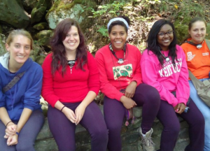 Students visiting Mammoth Cave